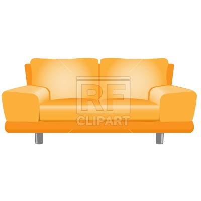 400x400 Modern sofa Royalty Free Vector Clip Art Image