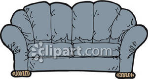 300x160 Old Sofa Clipart