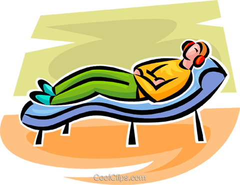 480x371 Person Lying On A Couch Royalty Free Vector Clip Art Illustration