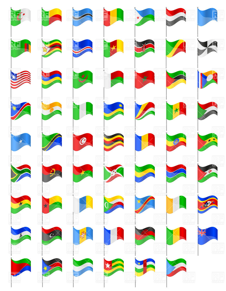 933x1200 Flags Of Countries Of Africa Royalty Free Vector Clip Art Image