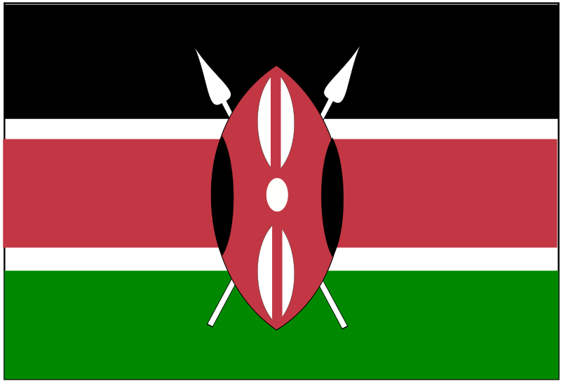 800x544 Free Clipart Flag Of Kenya Anonymous