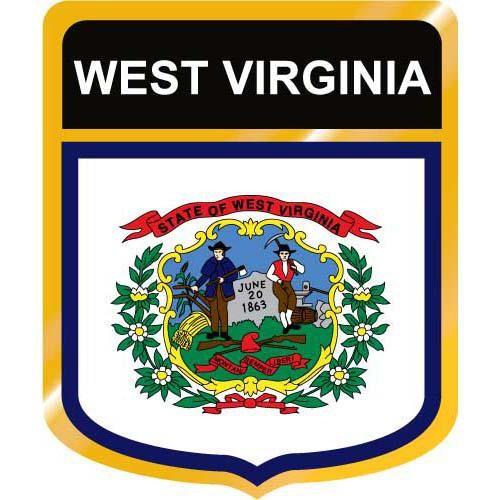 500x500 West Virginia Flag Crest Clip Art