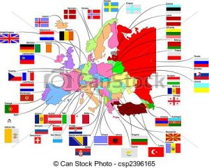 300x242 Country Flags Clipart Map Of Europe With Country Flags Clipart