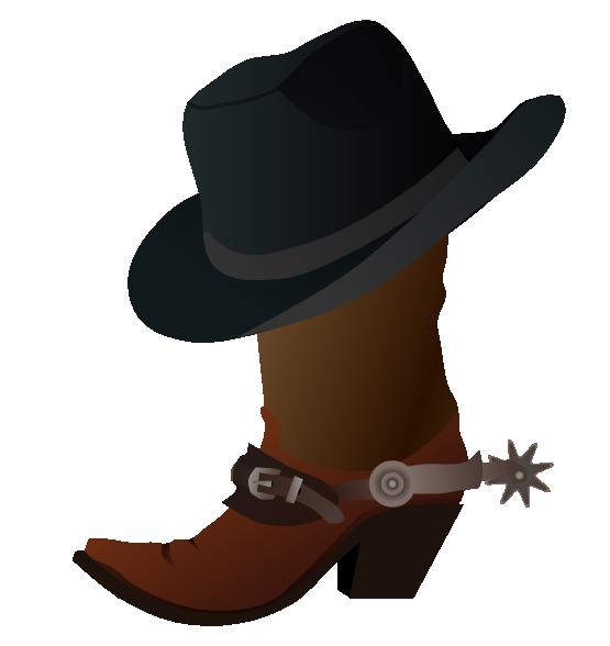 555x588 Cowboy Images Clip Art Free Cowboy Boot With Hat Clip Art Clip