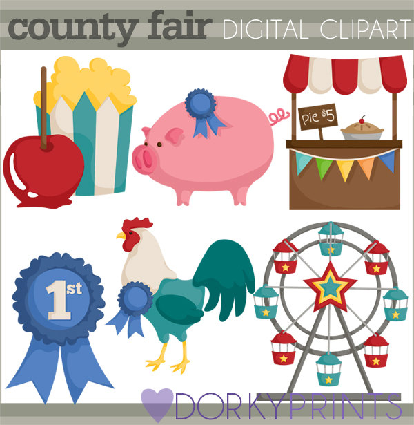 600x615 County Fair Clipart Personal And Limited Commercial Use Blue