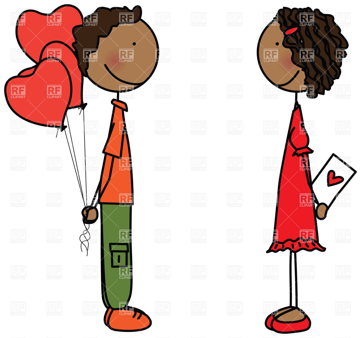 1200x1122 Couple Of Children In Love Boy Holding Heart Shaped Balloons