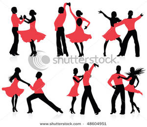 300x260 Set Of Silhouettes Of A Dancing Couple