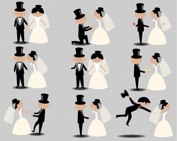 570x456 Wedding Clipart Clip Art Stick People Clipart Couple Vector Figure