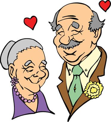 373x413 Elegant Clip Art Old People