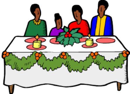 448x323 Christmas Table Clipart