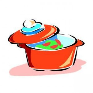300x300 Covered Platter Clipart