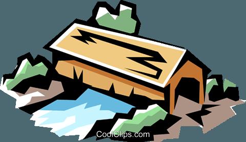 480x278 Covered Bridges Royalty Free Vector Clip Art Illustration