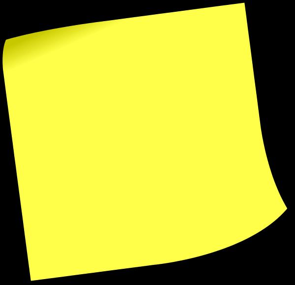 600x580 Sticky Note Clipart