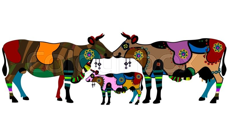 800x428 Cow, Bull And Calf Is A Beautiful Symbol Of Love And Happiness