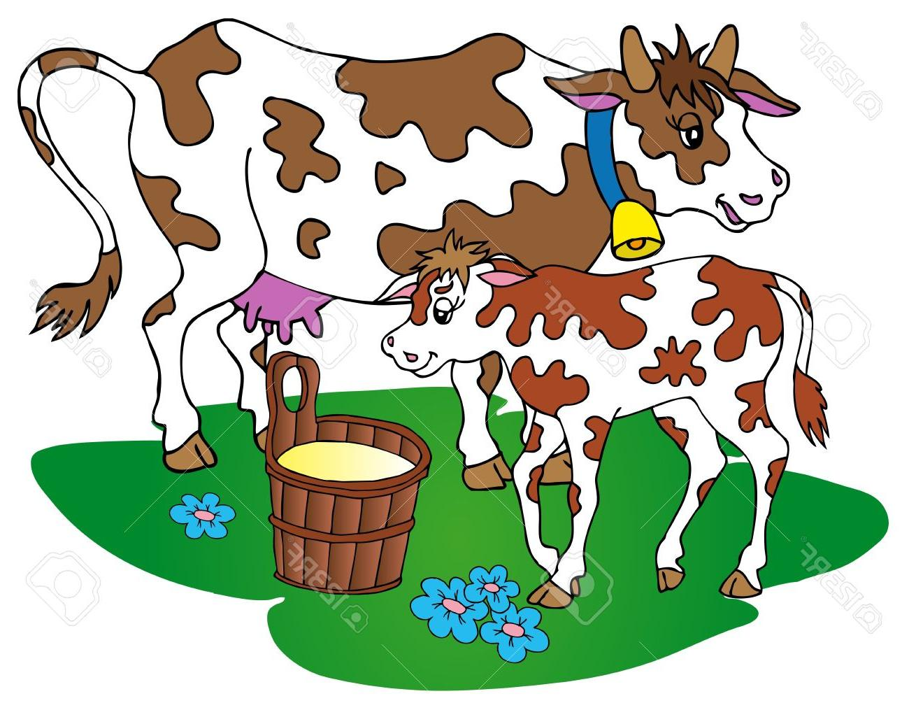 1300x1015 Hd Cow And Calf Clipart Images