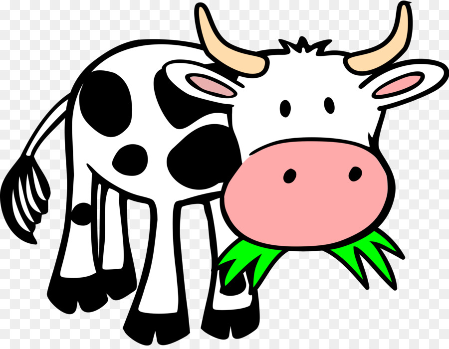 900x700 Holstein Friesian Cattle Calf Eating Clip Art