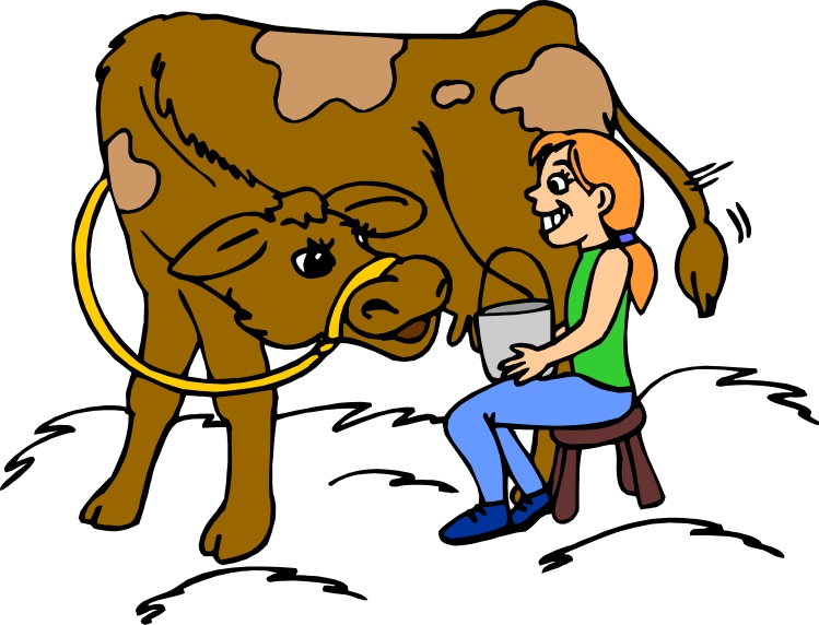 749x572 Clip Art Of Milking A Cow The Clipart Library