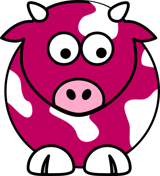 540x596 Coral Cow Clip Art