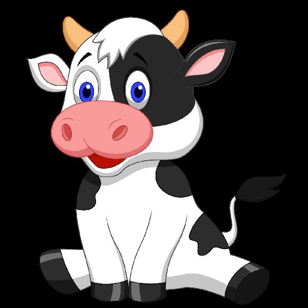 600x600 Cow Clipart