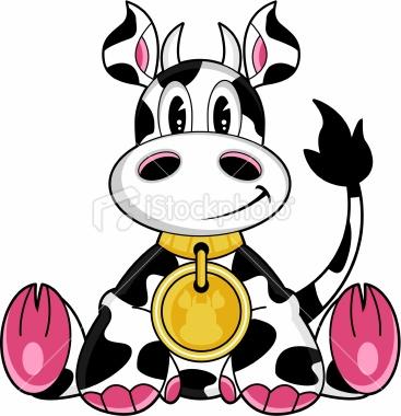 367x380 Cute Cow Cartoon Clipart