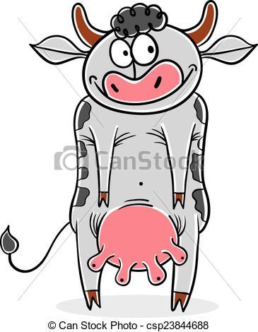 365x470 Funny Cow Vector Cartoon. Vector