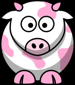 264x299 Light Pink Cow Clip Art