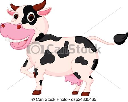 450x357 Vector Illustration Of Cute Cow Cartoon Clip Art Vector