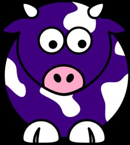 267x297 Blue Cow Clip Art