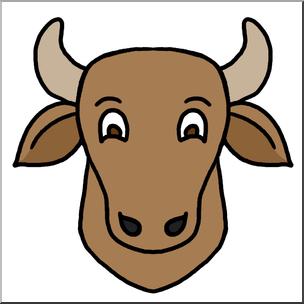 304x304 Clip Art Cartoon Animal Faces Cow Color I Abcteach