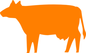 297x183 Cow Orange Clip Art
