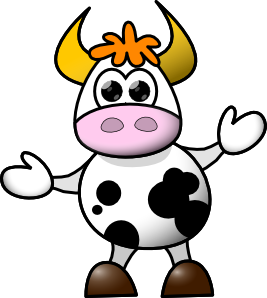 267x298 Cow Clip Art Free Vector 4vector