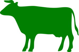 300x198 Green Cow Clip Art
