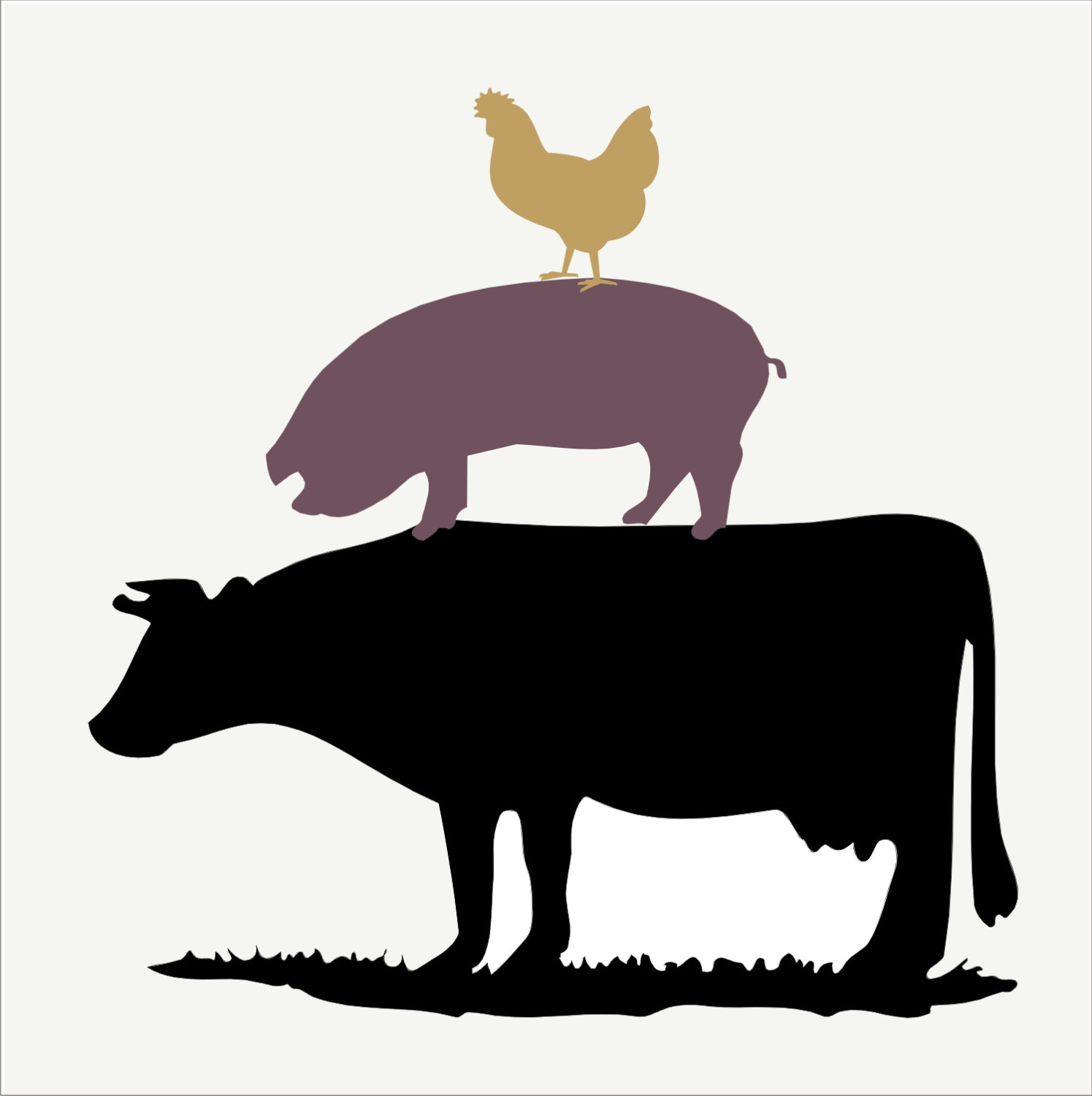 1495x1500 Collection Of Pig And Cow Clipart High Quality, Free