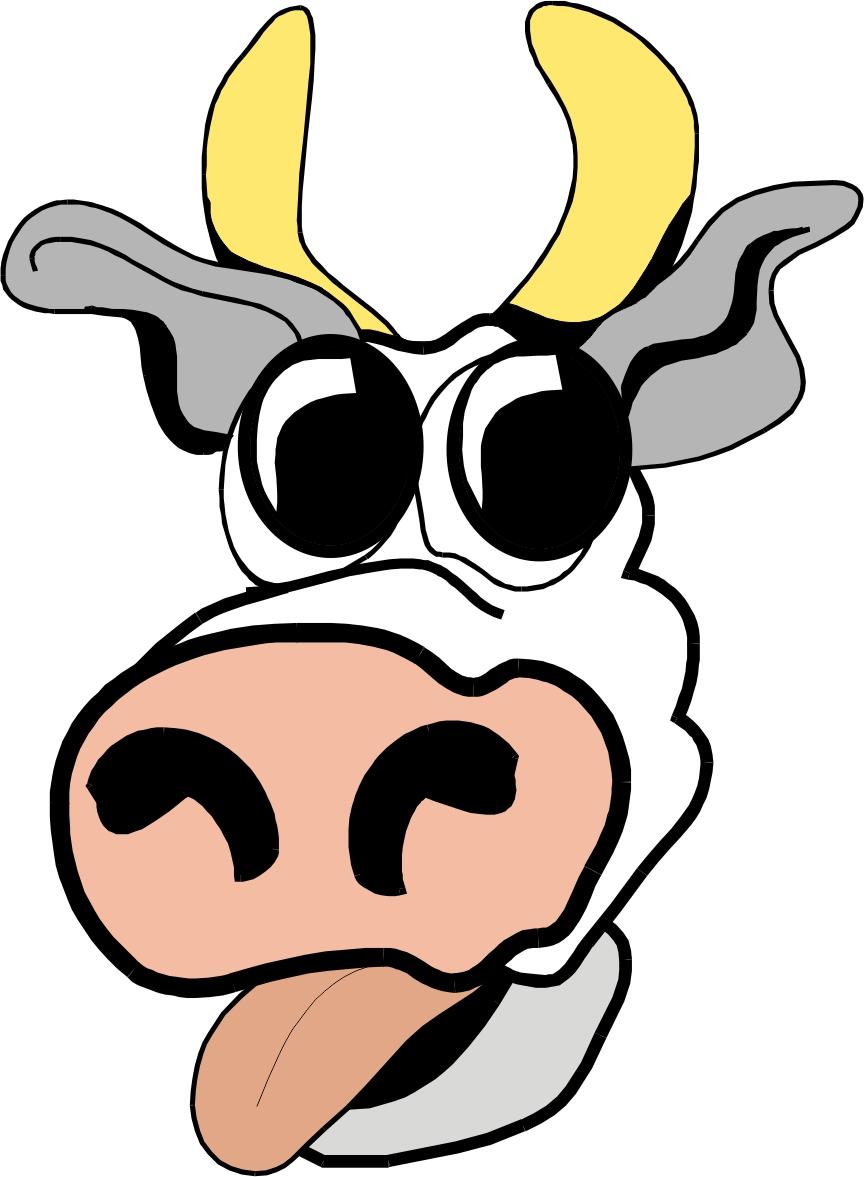 864x1177 Cartoon Cow Face