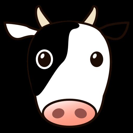 512x512 Cow Face Cartoon Group