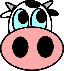 267x299 Cow Face Clip Art