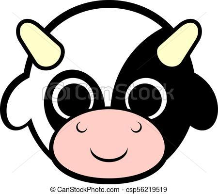 450x400 Creative Design Of Baby Cow Face Vector Clip Art
