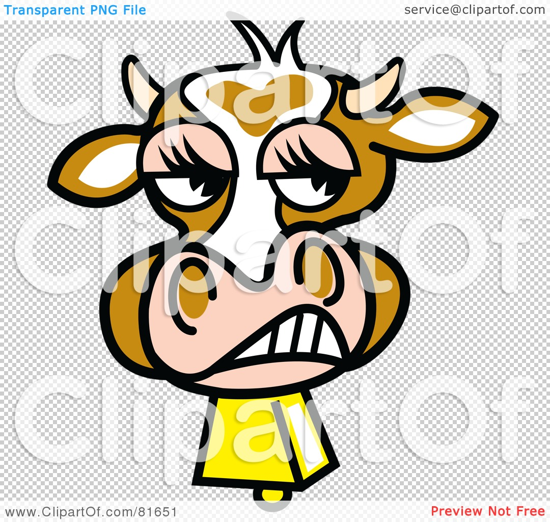 1080x1024 Royalty Free (Rf) Clipart Illustration Of A Snarling Brown Cow
