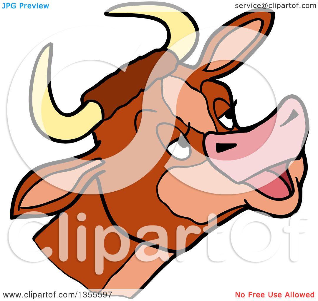 1080x1024 Clipart Of A Cartoon Mooing Cow Head