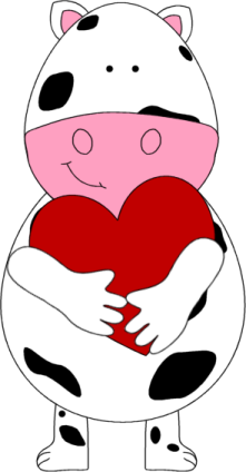221x424 Cow Clipart Valentine
