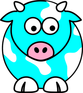 267x297 Collection Of Blue Cow Clipart High Quality, Free Cliparts