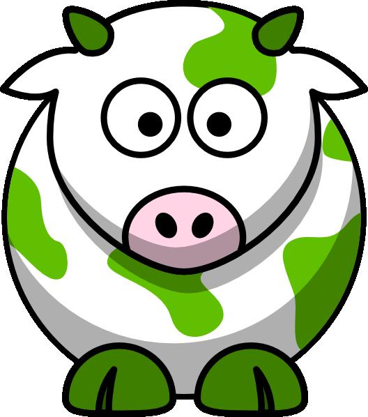 528x598 Green Cow Clip Art
