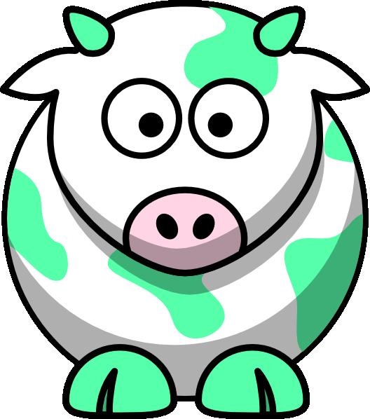 528x598 Mint Green Cow Clip Art