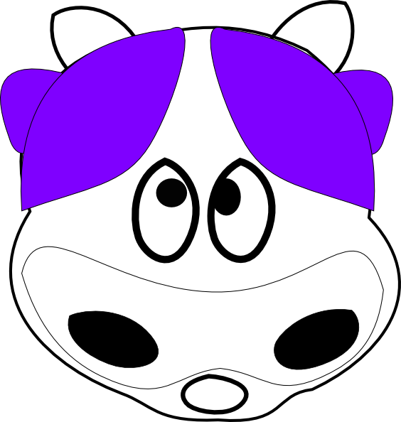 564x594 Purple Cow 2 Clip Art