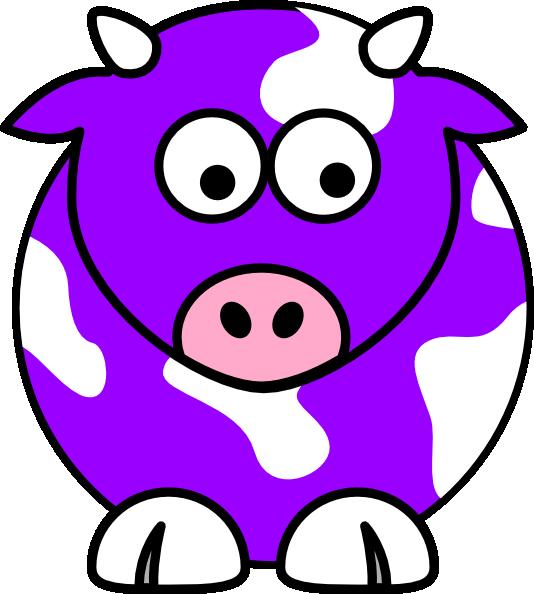 534x594 Purple Cow Clip Art