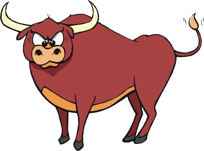 711x528 Spain Bull Head Clipart