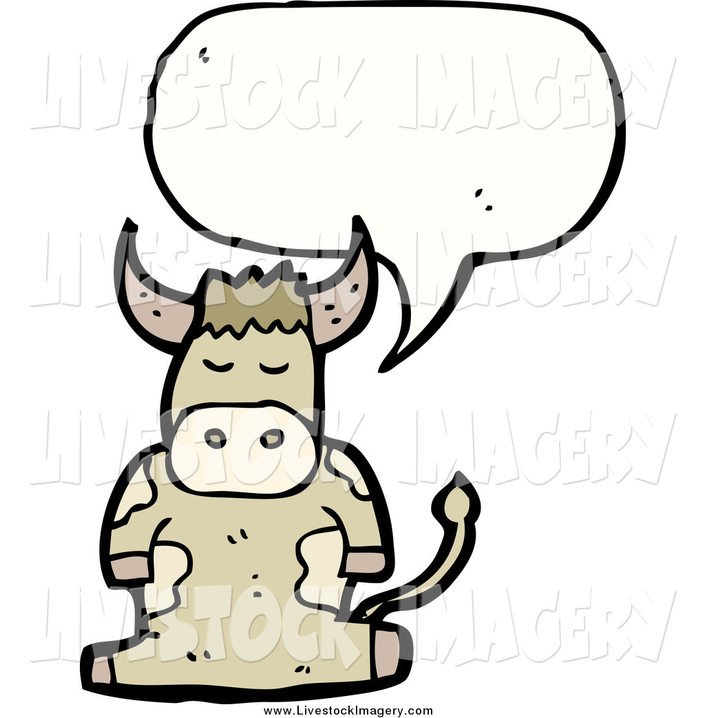 1024x1044 Clip Art Of A Talking Brown Cow By Lineartestpilot