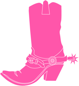 276x299 Pink Cowgirl Clip Art Pink Cowgirl Boot Clip Art