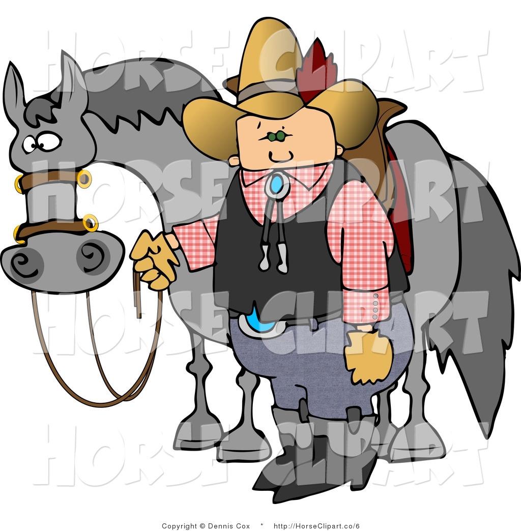 1024x1044 Clip Art Of A Cowboy Standing By A Horse By Djart