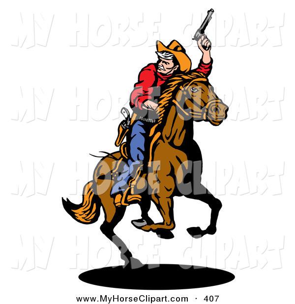 600x620 Cowboy On Horse Clip Art